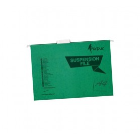 CARPETA COLGANTE SUPERIOR COLOR A4 (25U.) VERDE