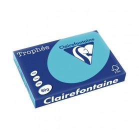 PAPEL COLOR A3 CLAIREFONTAINE 80GR. (500H.) AZUL OSCURO 1889C