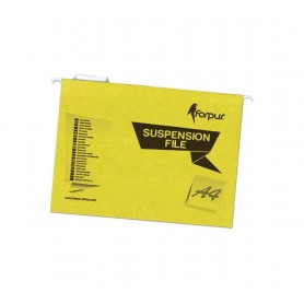 CARPETA COLGANTE SUPERIOR COLOR A4 (25U.) AMARILLO