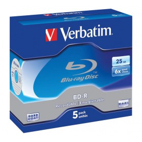 BD-R VERBATIM PACK 5U BD-R BLUE-RAY 25GB 43715