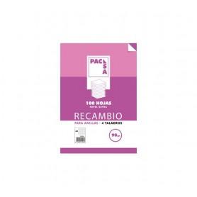 RECAMBIO PAPEL 100H FOLIO CUADRO 4X4 PACSA 4TAL.MRG 90G 21261