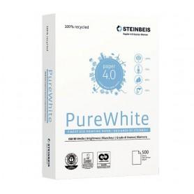 PAPEL MULTIFUNCION A4  80GR. RECICLADO (5x500H.) STEINBEIS PURE WHITE