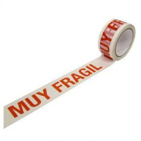CINTA PRECINTO 48MM. 66 MTS. PP. BLANCO MUY FRAGIL (6U.)