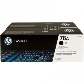 TONER LASER HP  78A (2x2100P.) CE278AD NEGRO DUAL PACK