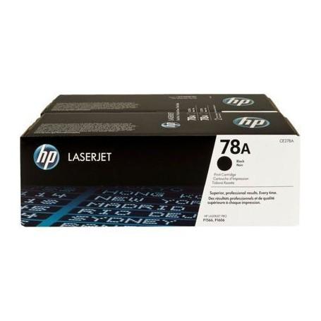 TONER LASER HP  78A (2x2100P.) CE278AD NEGRO DUAL PACK