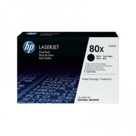 TONER LASER HP  80X (2x6900P.) CF280XD NEGRO  PACK