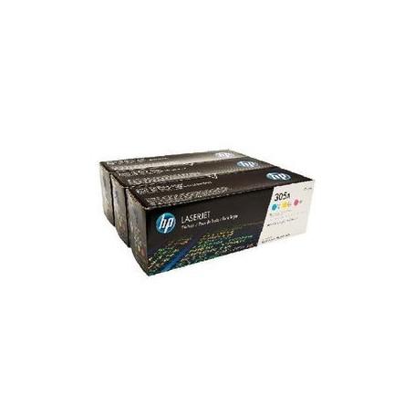 TONER LASER HP 304A (3x2800P.) CF372AMARILLOPACK COLOR