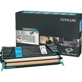 TONER LASER LEXMARK C5240CH CIAN (5.000 P.)