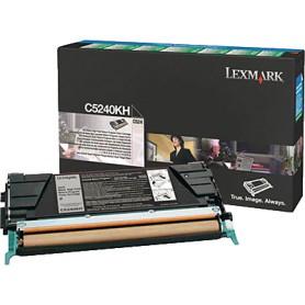TONER LASER LEXMARK C524KH NEGRO (8.000 P.)