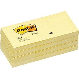 BLOC POST-IT  38x51 AMARILLO (12U.)