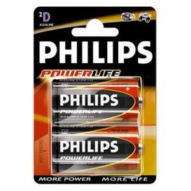PILAS ALCALINAS PHILIPS LR20 D (2U.) 90520