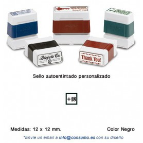 SELLO PERSONALIZADO DIGISTAMP 12x12 MM. NEGRO