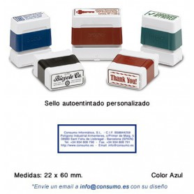 SELLO PERSONALIZADO DIGISTAMP 22x60 MM. AZUL
