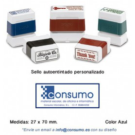 SELLO PERSONALIZADO DIGISTAMP 27x70 MM. AZUL