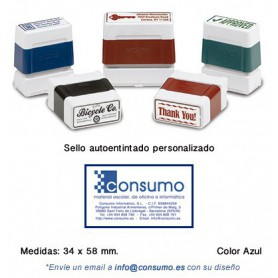 SELLO PERSONALIZADO DIGISTAMP 34x58 MM. AZUL
