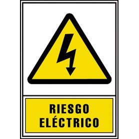 """PLACA SE""""AL NORMALIZADA -RIESGO ELECTRICO-"""