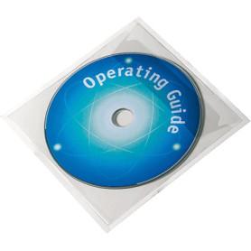 BOLSILLO ADHESIVO CD/DVD C/SOLAPA (10U.)