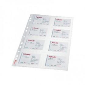 FUNDAS TARJETAS VISITA PVC CRISTAL (10U) 78930
