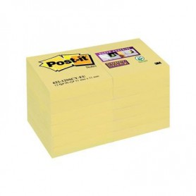 BLOC POST-IT  48x48 SUPER STICKY (12U.) AMARILLO