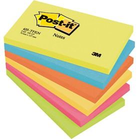 BLOC POST-IT  76x127 GAMA ENERGIA (6U.) SURTIDO