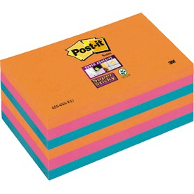 BLOC POST-IT  76x127 SUPER STICKY (6U.) BANGKOK