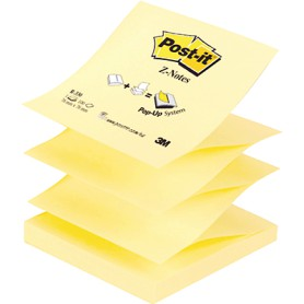 BLOC POST-IT Z-NOTES  76X76 AMARILLO R-330