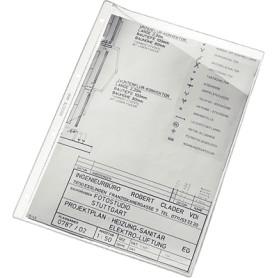 FUNDA PLANOS A4 4 TALADROS C/OBLICUO PVC (100U)