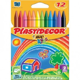 PLASTIDECOR COLORES (12U.) ESTUCHE CARTON
