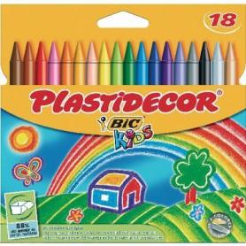 PLASTIDECOR COLORES (18U.) ESTUCHE CARTON