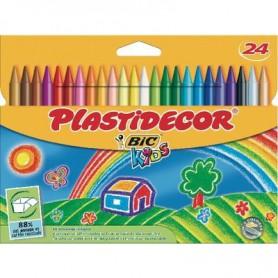 PLASTIDECOR COLORES (24U.) ESTUCHE CARTON