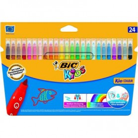 ROTULADORES COLORES BIC KID COULEUR (24U.) ESTUCHE