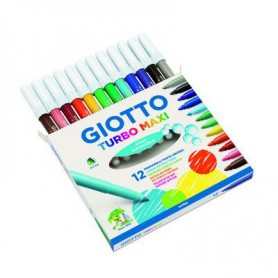 ROTULADORES COLORES GIOTTO TURBO MAXI (12U.) ESTUC