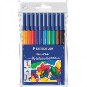 ROTULADORES COLORES STAEDTLER NORIS CLUB (10U.) ES