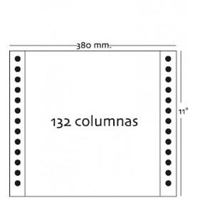 PAPEL CONTINUO PAUTADO AZUL 380X11 1H. (2500U.)