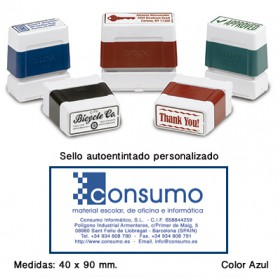 SELLO PERSONALIZADO DIGISTAMP 40x90 MM. AZUL