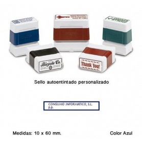 SELLO PERSONALIZADO DIGISTAMP 10x60 MM. AZUL