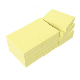 BLOC NOTAS REPOSICIONABLES 38X51 AMARILLO (12U.)