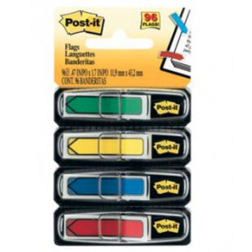 POST-IT INDEX FLECHAS 12x43 4 COLORES (4x20u.)