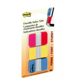 POST-IT INDEX RIGIDO 25x38 ROJO-AMARILLO-AZUL