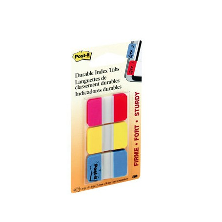 POST-IT INDEX RIGIDO 2ROJO-AMARILLO-AZUL