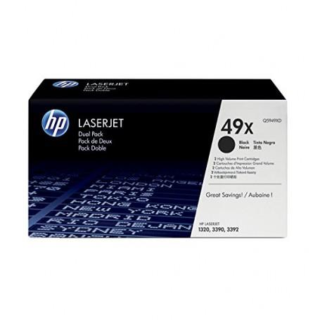 TONER LASER HP  49X (2x6000P.) Q5949XD DOBLE PACK NEGRO