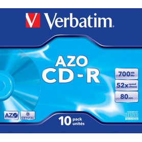 CD-R 700 MB. VERBATIM 52x (10U.) CRYSTAL
