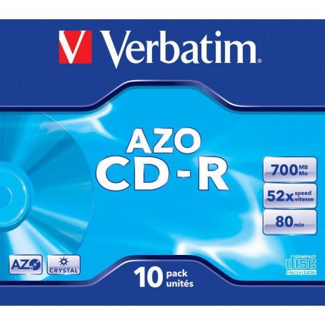 CD-R 700 MB. VERBATIM 52x (10U.) CRYSTAL