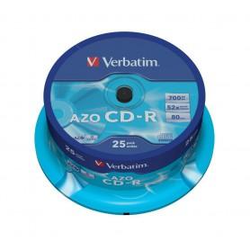 CD-R 700 MB. VERBATIM 52x (BOBINA 25U.) + CANON