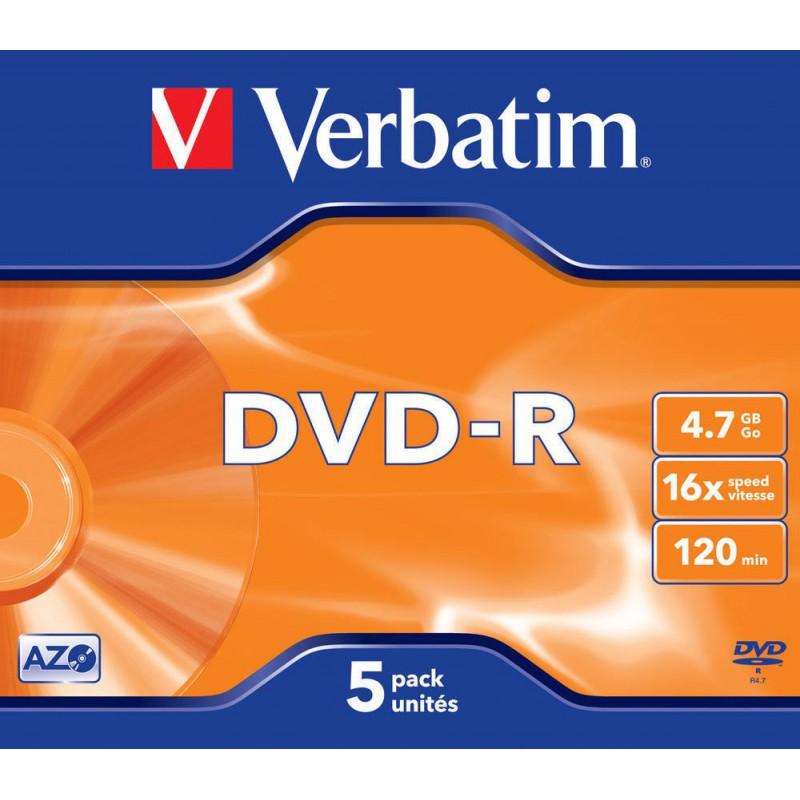 DVD+R 4,7 GB. VERBATIM 16x (5U.)