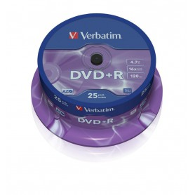 DVD+R 4,7 GB. VERBATIM 16X (BOBINA 25U.)