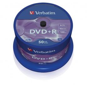 DVD+R 4,7 GB. VERBATIM 16X (BOBINA 50U.)