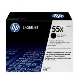 TONER LASER HP  55X (12500P.) CE255X NEGRO ALTA CAPACIDAD