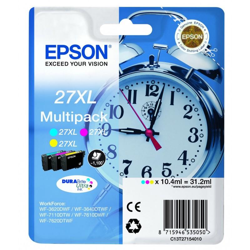 INK-JET EPSON 27XL (3x450P.) C13T27154020 PACK 3 COLORES CY/MG/AM