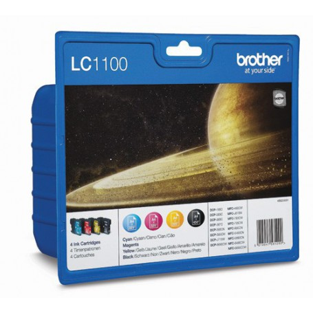 INK-JET BROTHER LC1100VALBP MULTIPACK 4 COLORES